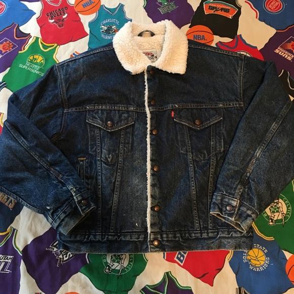 Vintage Levi Sherpa Lined Denim Jacket